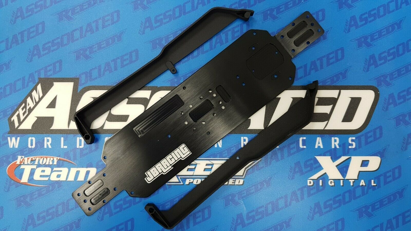 3mm shorter chassis  for AE RC10B64 7075 aluminium with 3D side guards  vendita calda online