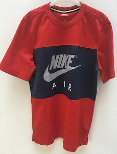 Nike Herren Sport-Freizeit-Fitness-T-Shirt NIKE M NSW JDI BUMPER TEE weiss rot