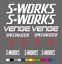 Vinyl Decals MTB S-WORKS Mountain Bike Frame Stickers