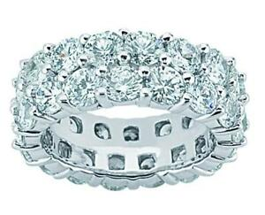4-15-ct-Ladies-Two-Row-Round-Cut-Diamond-Eternity-Wedding-Band-Ring