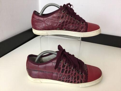 scarpe Vgc ginnastica rosso di alligatore pelle Sneakers Ladies rossiccio Eu37 4 da Uk Lanvin marrone 6P0Oqc