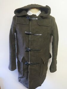 ae2395c37355 Vintage Wool Duffle Duffel Coat Raincoat S 34-36