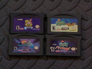 Lot of 4 Nintendo Game Boy Advance GBA Games SpongeBob SquarePants