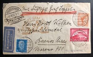 1932 Berlin Germany Graf Zeppelin LZ127 Airmail Cover to Buenos Aires Argentina