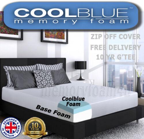 Cool-Blue MEMORY FOAM SPRUNG MATTRESS 3FT 4FT 4FT6 5FT 6FT MATRESS