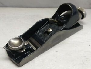 Vtg-Stanley-No-60-1-2-Low-Angle-Adjustable-Throat-Block-Plane-USA-woodworking
