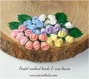 Rosebud-beads-handmade-flower-charms-pastel-bright-colours-Wedding-Handfasting