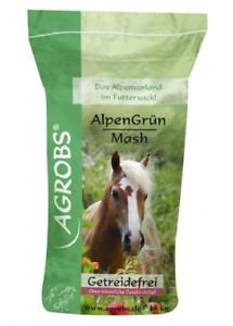Agrobs Alpengrün Mash 15kg 1,97€//kg Melassefrei Getreidefrei Verdauung Fell Haut