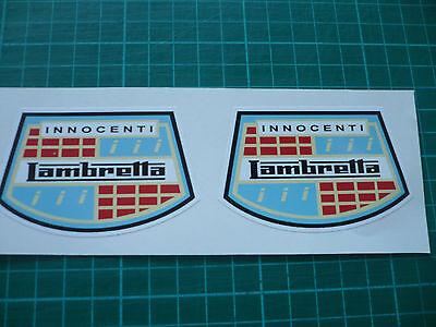 Lambretta Innocenti Laurels Pair Scooter stickers 75mm
