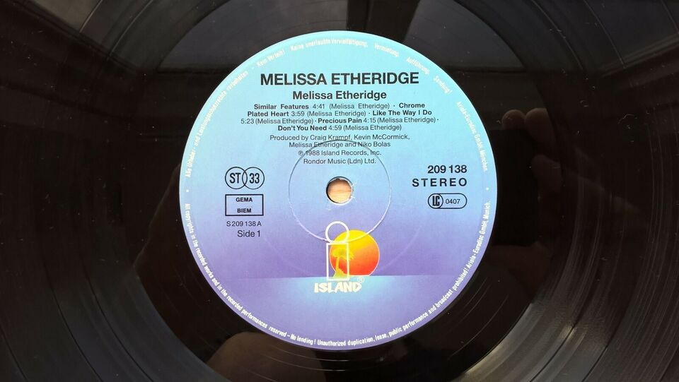 LP, Melissa Etheridge, Melissa Etheridge