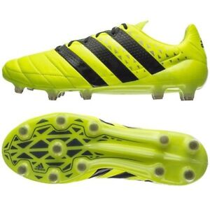 sports shoes 335eb e3052 Image is loading Adidas-Ace-16-1-FG-Leather-Soccer-Shoes-