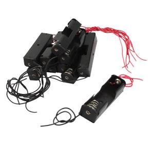 10-Pcs-filaire-boite-de-piles-noire-box-de-rangement-pour-pile-1-x-1-5V-AA-WT