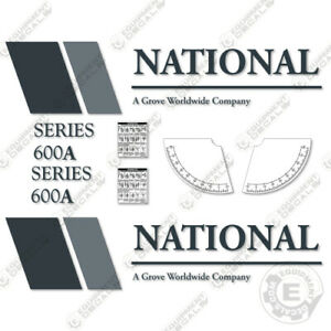 National 600A Decal Kit Crane Replacement Decals (7 YEAR VINYL)