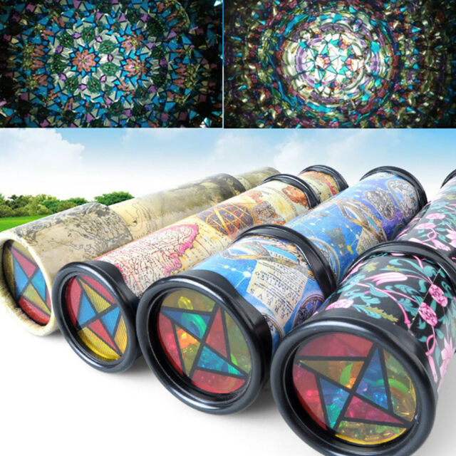 Rotatable Kaleidoscope Kids Children Educational Science Toy Birthday Gift Eager