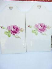 27533 2x Schneidbrett Porzellan Rosen Rosendekor schwer porcelaine roses 25x13cm