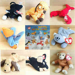 McDonalds Happy Meal Toy 1993 TY Teenie Beanie Babies Plush Toys ... 6dfcc189ed9