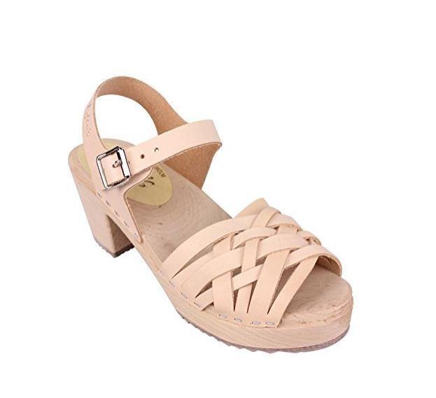 Torpatoffen Swedish Braided Heel High Heel Braided Clogs Leder UK 7 EU 40 LN19 50 SALEs 24f531