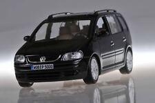VW VOLKSWAGEN TOURAN 2002 BLACK METALLIC MINICHAMPS NEW 1/43 MONOSPACE NOIR