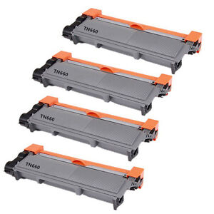 4PK-HighYield-TN660-TN630-NONOEM-Toner-Cartridge-For-Brother-HL-L2380DMFC-L2700D