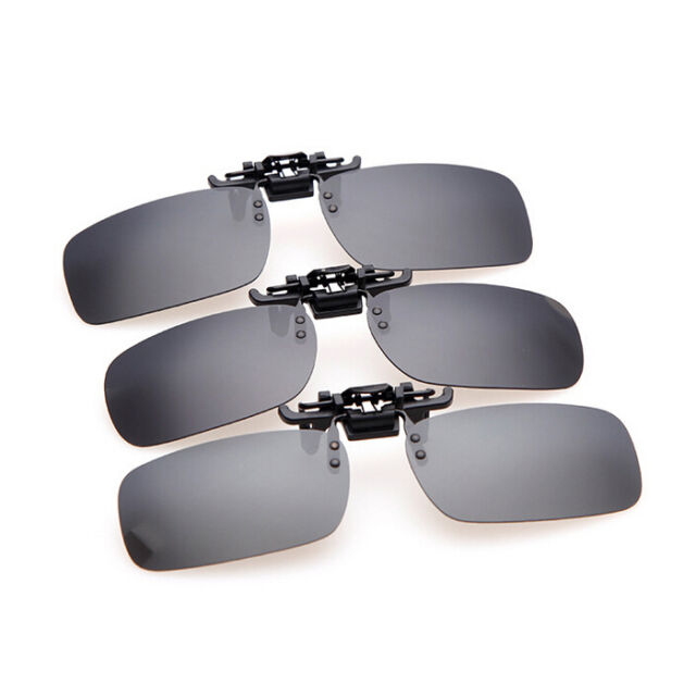 Polarized Lenses Clip-on Sunglasses Myopia Cycling Glasses 4 Color 3 Size