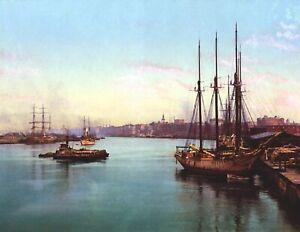 1900-The-Savannah-River-Georgia-Vintage-Photograph-8-5-034-x-11-034-Reprint