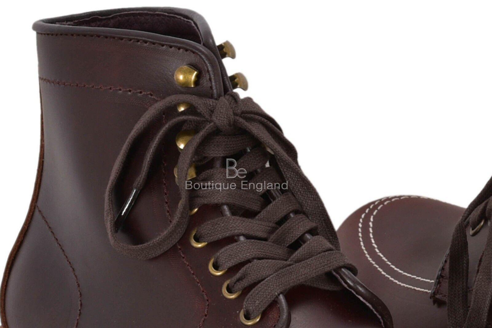 VINTAGE LOOK classico pelle Stivali Alti Alla Caviglia Scuro Marrone Scuro Caviglia Look occidentale 8214a7
