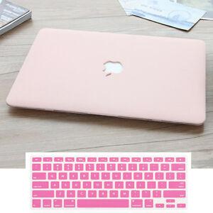 sale retailer 63013 902a7 Details about 2in1 Rose Quartz/Baby Pink Rubberized Matte Case for MacBook  Air Pro 11