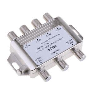 3X4-Multi-conmutador-de-4-Fta-Satelite-LNB-salida-Combinador-LNBF-Dish-MS34-Plata