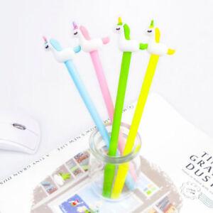 8pcs Lovely Cute Cartoon Horse Unicorn Gel Ink Pens Office School Stationery New