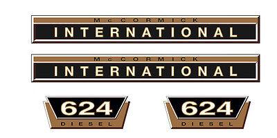 IHC 633 pegatinas 2x logotipo emblema sticker Label