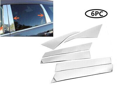 STAINLESS STEEL CHROME PILLARS FOR CHEVY TRAVERSE 6PCS 2009-2017