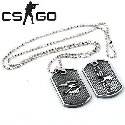 CS GO Game Metal Dog Tag Pendant Necklace Counter Strike Global Offensive Zinc