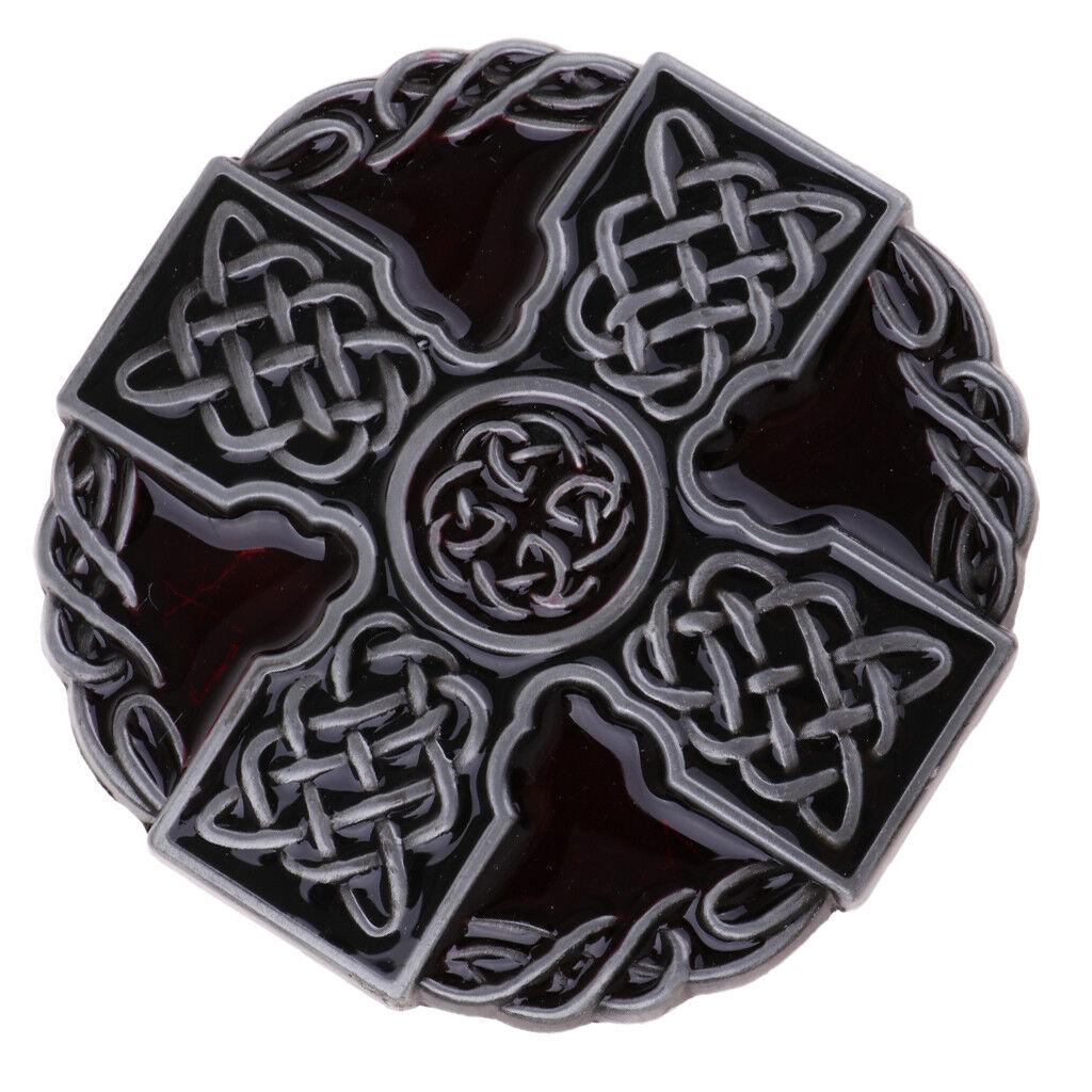 Männer Runde keltisches Kreuz Knoten geflochtene Kunst Design