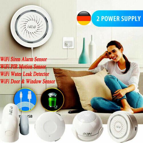 NAS-DS01W WiFi Smart Door Window Sensor Plug /& Play Remote Home Monitoring MB