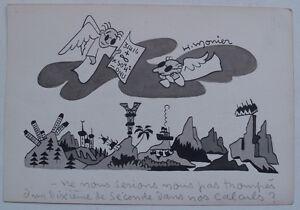 RARE-Excellent-DESSIN-Original-humoristique-XX-signe-H-MONIER-1901-1959