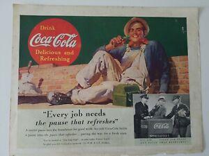 1937-drink-Coca-Cola-soda-man-bricklayer-lunchbox-vintage-original-ad