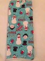 Microfiber Kitchen Towel Snowman Christmas Hand Towel Holiday