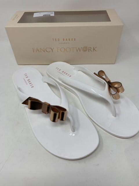 White Synthetic Flip Flop Sandals