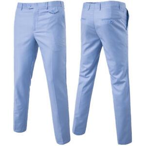 Men-039-s-Advanced-Luxury-Slim-Fit-Wedding-Formal-Casual-Business-Dress-Suit-Pant