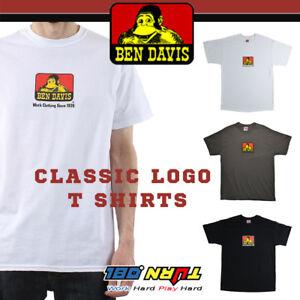 Ben-Davis-Mens-Short-Sleeve-T-Shirts-Top-Classic-Logo-Graphic-Basic-Old-school
