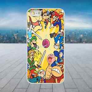 SUPER-MARIO-NINTENDO-COLLAGE-White-Hard-Phone-Case-Cover-Fits-Iphone-Models