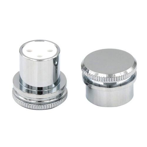 Rhodium Plated XLR male Female Noise Reducing Caps ptfe  Insulation JGUK  MA  MW
