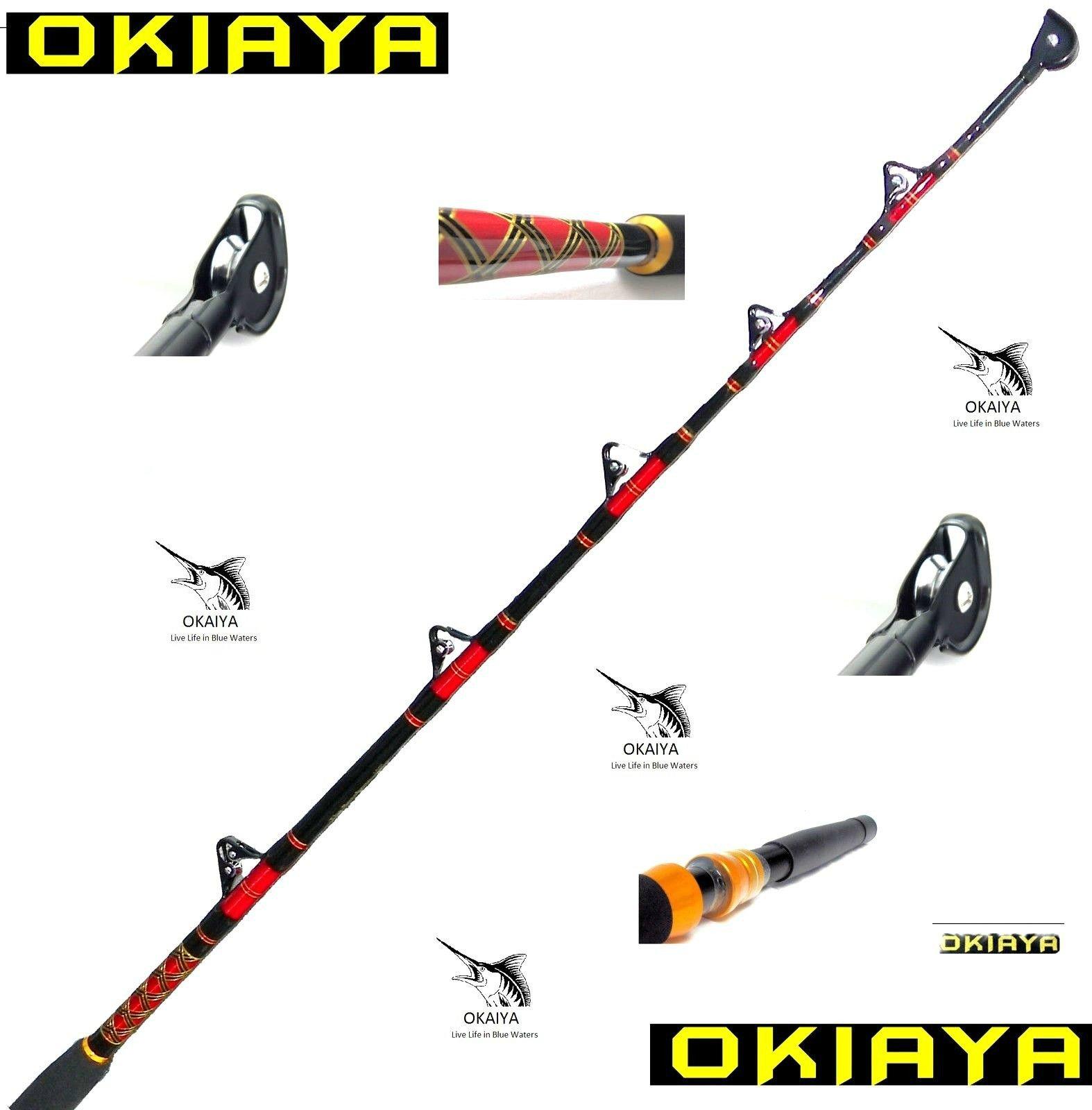 OKIAYA COMPOSIT 80130LB Saltwater Big Game Roller Rod