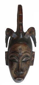 DéVoué Masque Africain Gouro Totem Bouc Calao De Cote D'ivoire Art Afrique