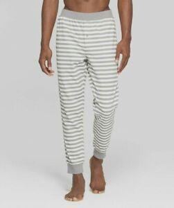 Men/'s Striped Cotton Sweatpants Lounge Pants w// Pockets Size S-2XL New