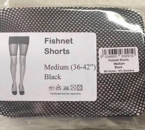 "New Ladies Women Black Fishnet See Through Shorts By Silky MEDIUM 36/""-42/"""