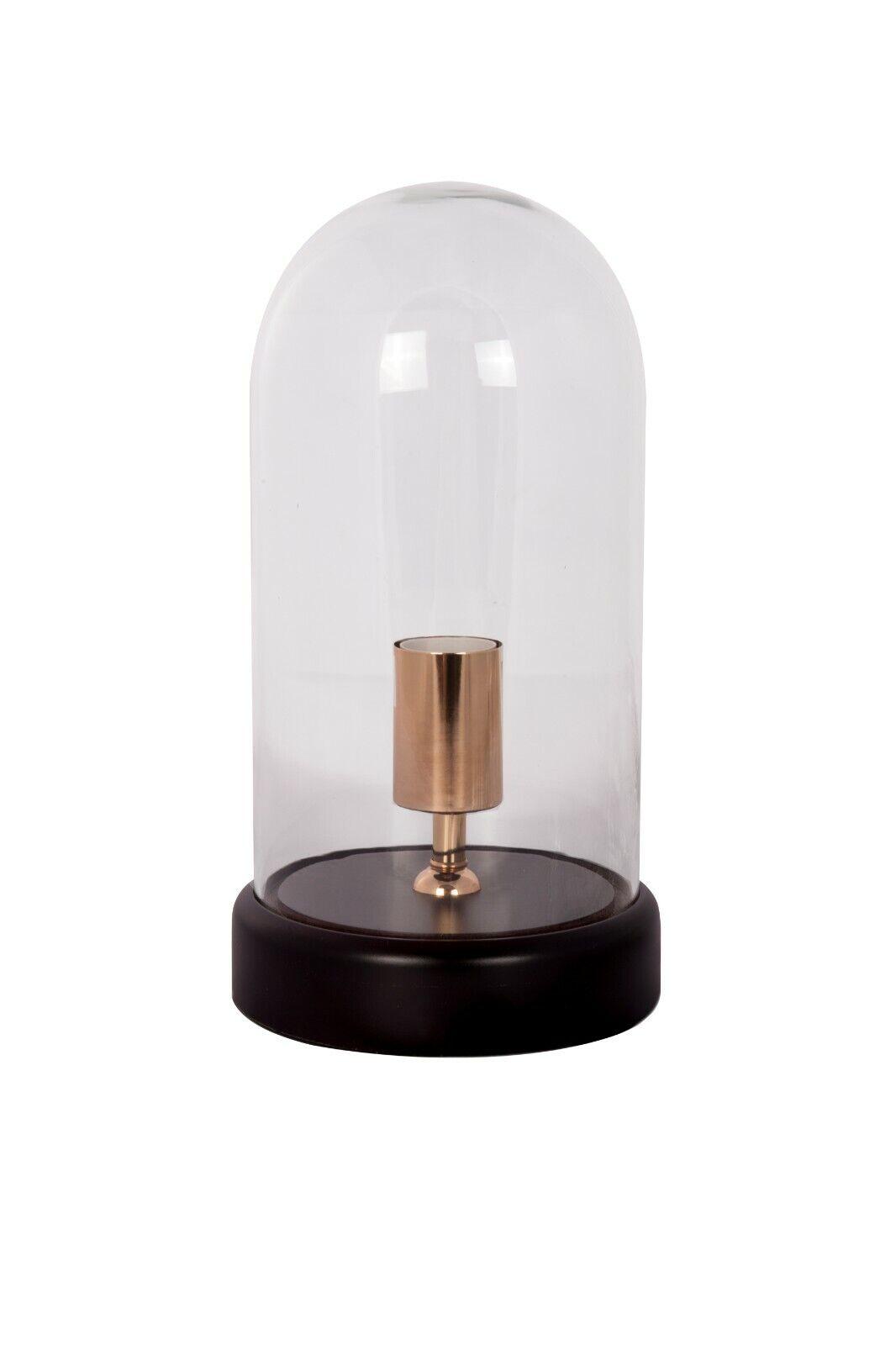 Tischlampe Ceti 310 Transparent E27 Max. 40 Watt Lampe Leuchte Glas Holz