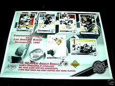 Los Angeles Kings Upper Deck 92-93 Limited Edition Sheet