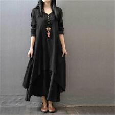 1377d1dddc 5XL Muslim Women Kaftan Abaya Jilbab Islamic Girls Cotton Linen Loose Maxi  Dress