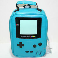 Nintendo Game Boy Color Blue Green School Lunch Bag Box Insulated Cooler Bag
